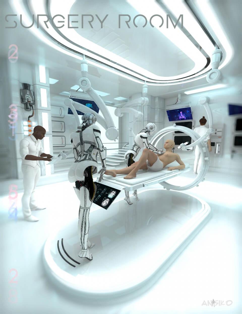 Operating Room Design: 10 Beeindruckende Science-Fiction 3D-Modelle Zum