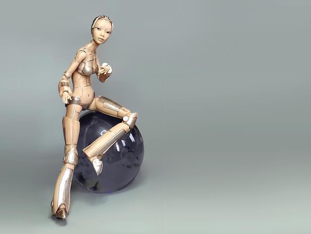 3d-modell sexy robotica