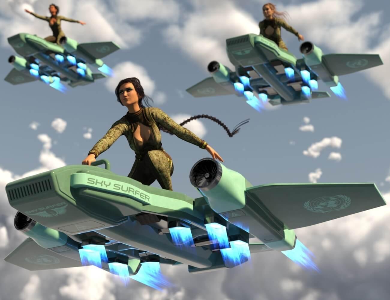 3d-modell sky surfer 3d-model