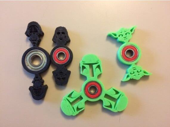 3d-modell star wars fidget spinner
