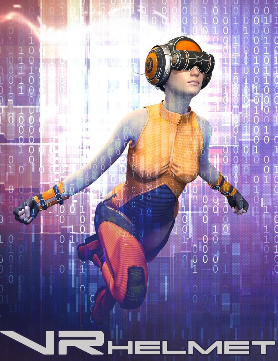 3d-modell vr helm 3d-model virtual reality helmet