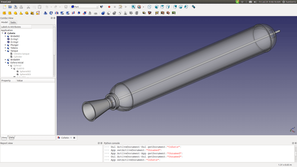 Screen Freecad 3D-Modeler