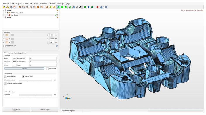 Screenshot Netfabb 3D Slicing App