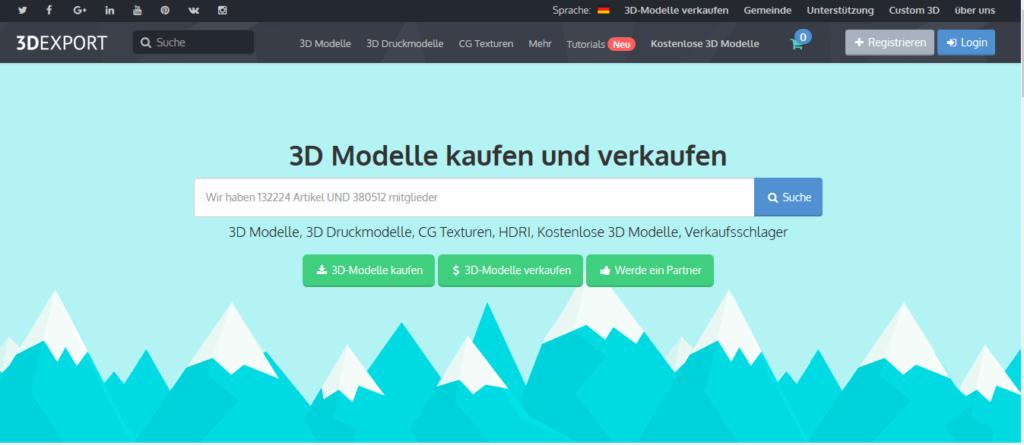 3dexport 3d printing models
