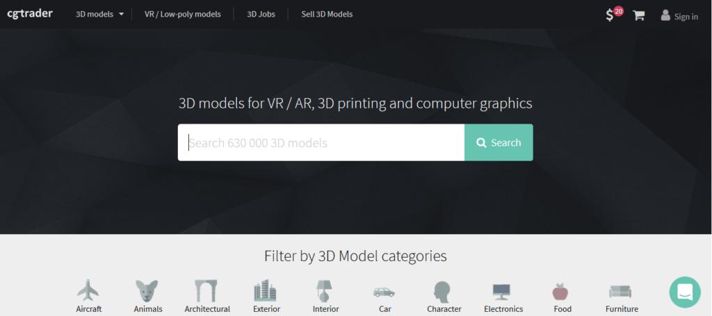 cgtrader 3d printing models