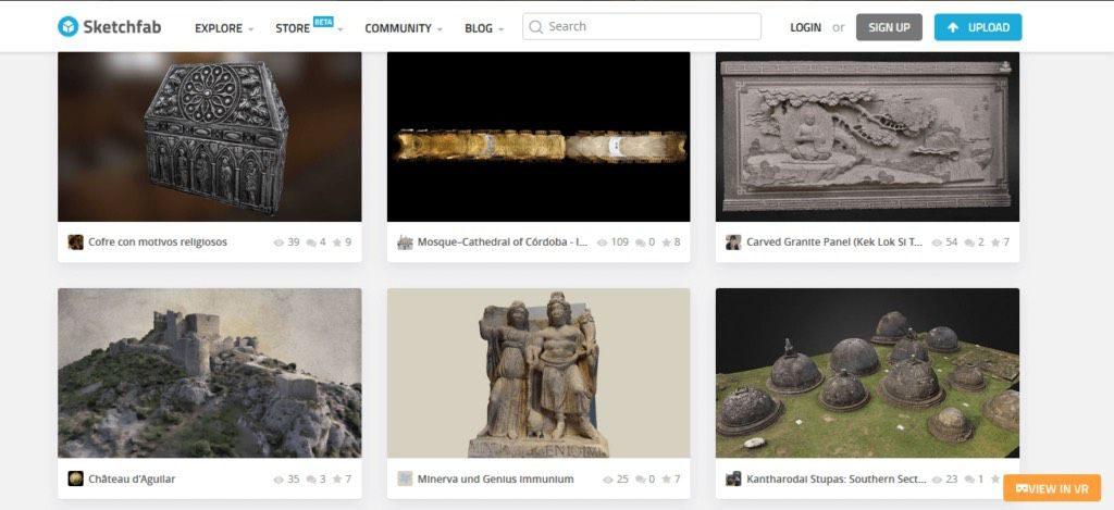 sketchfab 3d printing models