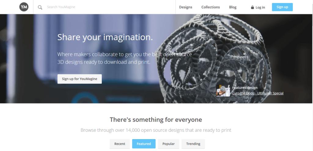 youmagine 3d printing models