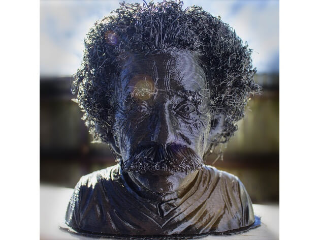 3d-modell albert einstein 3d model