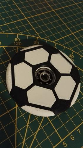3d-modell fidget spinner fussball soccer 3d model
