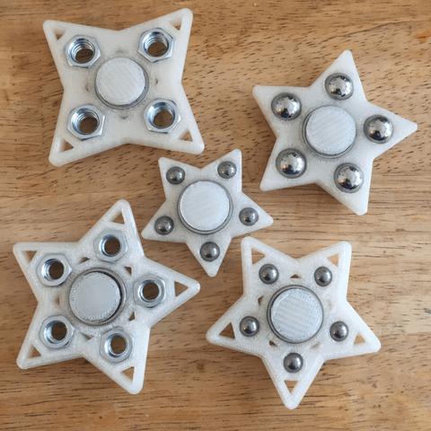 3d-modell fidget spinner sterne stars 3d model