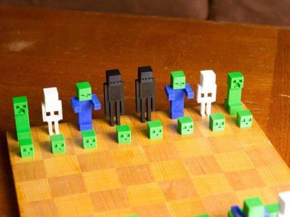 3d-modell schach minecraft chess 3d model