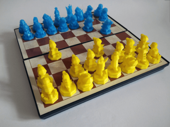 3d-modell schach pokémon chess 3d model
