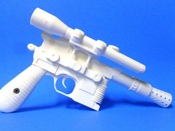 3d-modell star wars han solo blaster 3d model