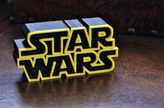 3d-modell star wars logo 3d model