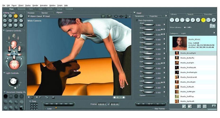 3d-software poser pro