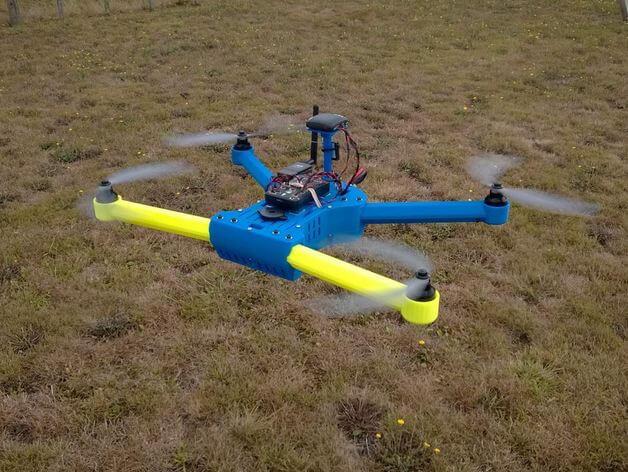 3d-modell 3d model quadcopter T4