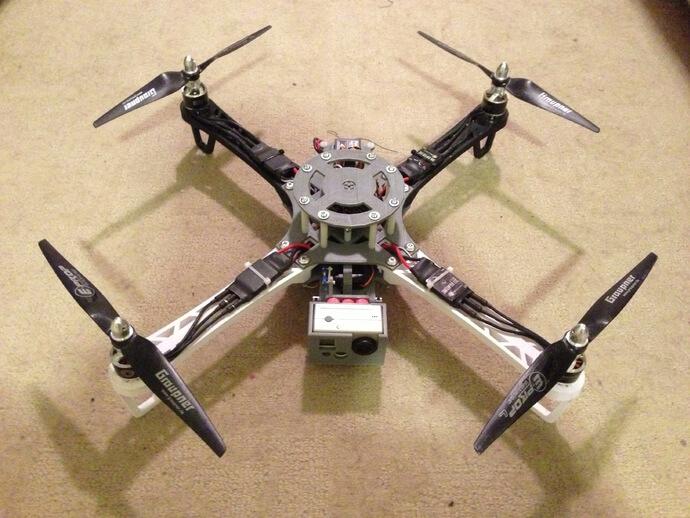 3d-modell 3d model quadcopter crossfire