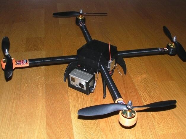 3d-modell 3d model quadcopter hugin