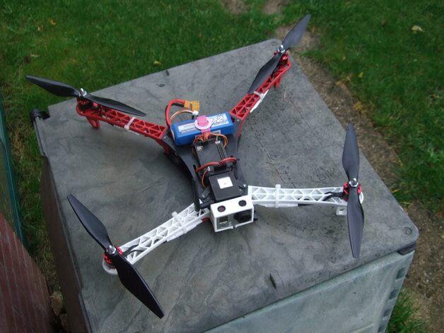 3d-modell 3d model quadcopter spyda 500