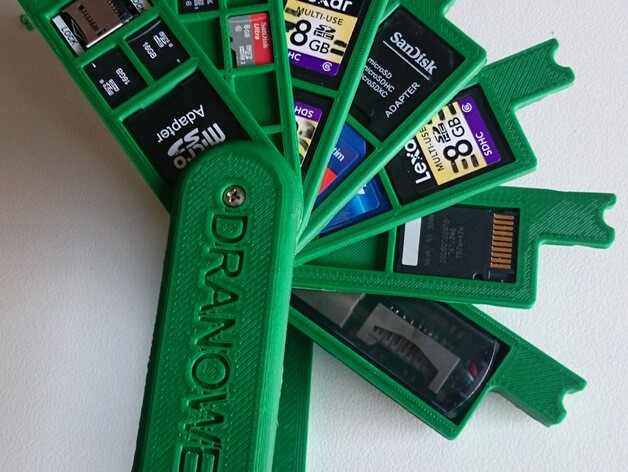 3d-modell 3d-model sd karten halter sd card holder