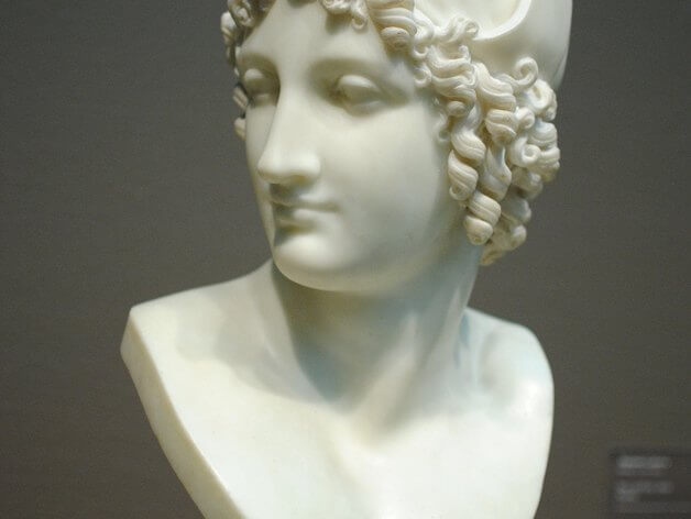 3d-modell büste paris 3d-model bust