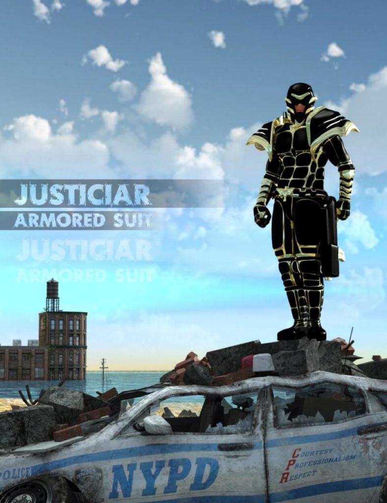 3d-modell daz3d justiciar 3d-model