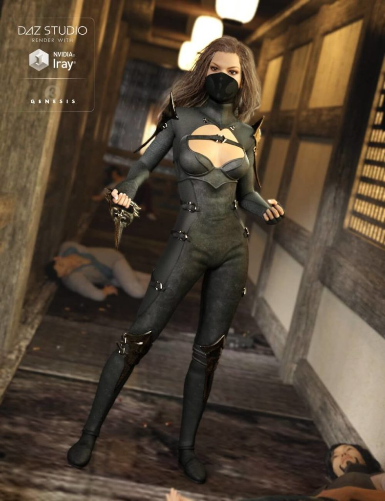 3d-modell daz3d shadow outfit 3d-model