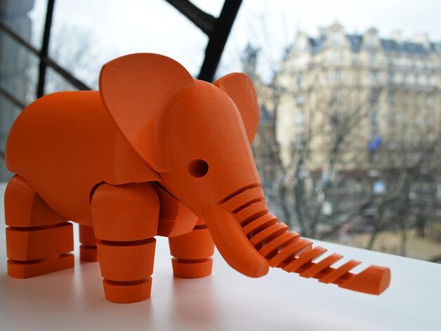 3d-modell elefant 3d-model