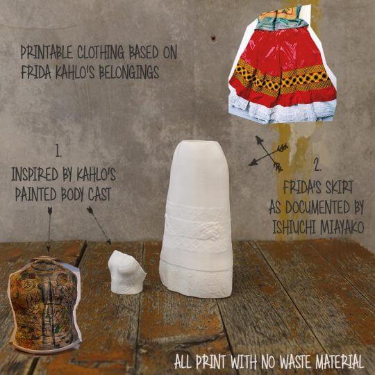 3d-modell frida kahlo 3d model making of