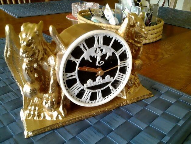 3d-modell gotische uhr 3d model gothic clock
