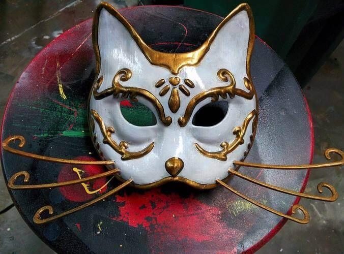 3d-modell katzen maske 3d model cat mask