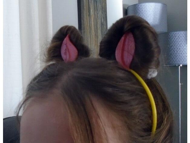 3d-modell katzen ohren 3d model cat ears