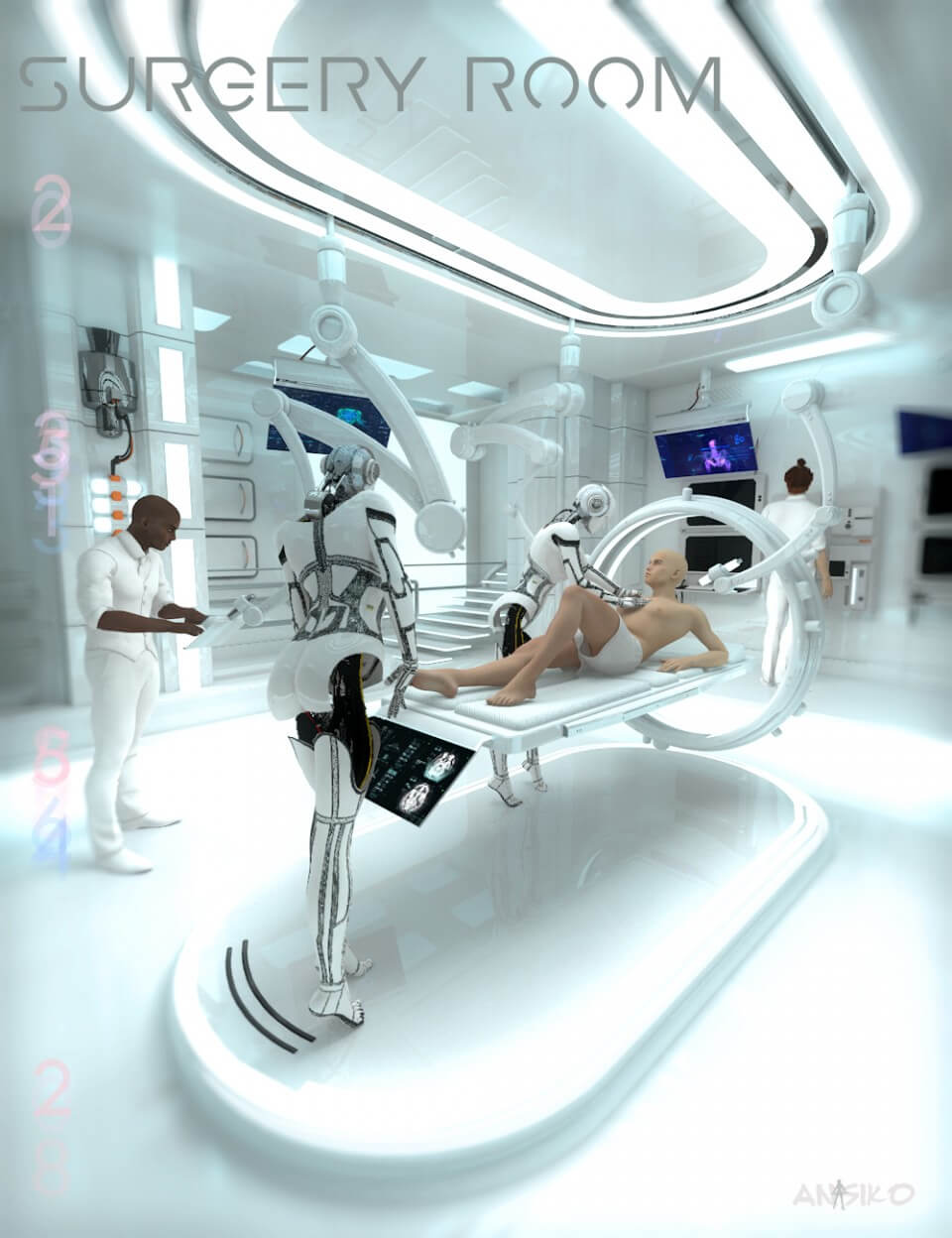 3d-modell operationssaal 3d-model surgery room