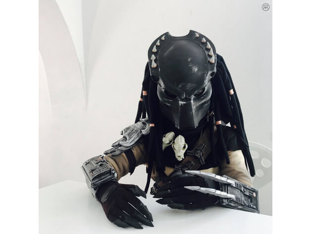 3d-modell predator maske mask 3d model