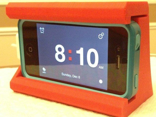 3d-modell smartphone weckerständer 3d model alarm stand
