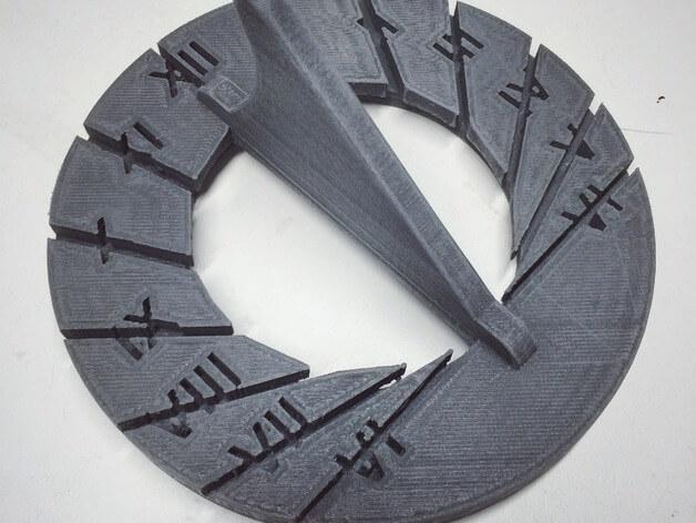 3d-modell sonnenuhr 3d model sundial