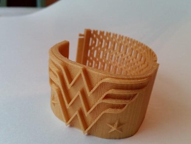 3d-modell wonder woman armband 3d-model bracelet