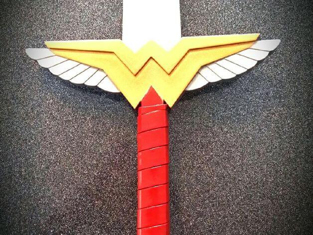 3d-modell wonder woman schwert 3d-model sword