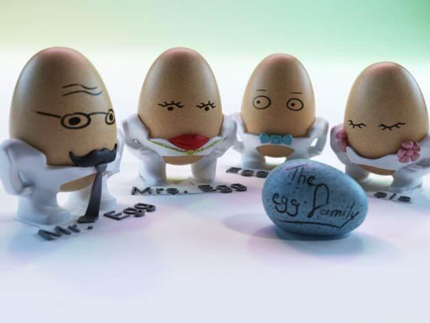 3d-modell eierbecher 3d model egg cup