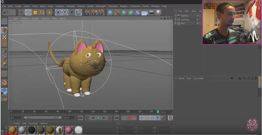 3d-modell katze 3d model cat