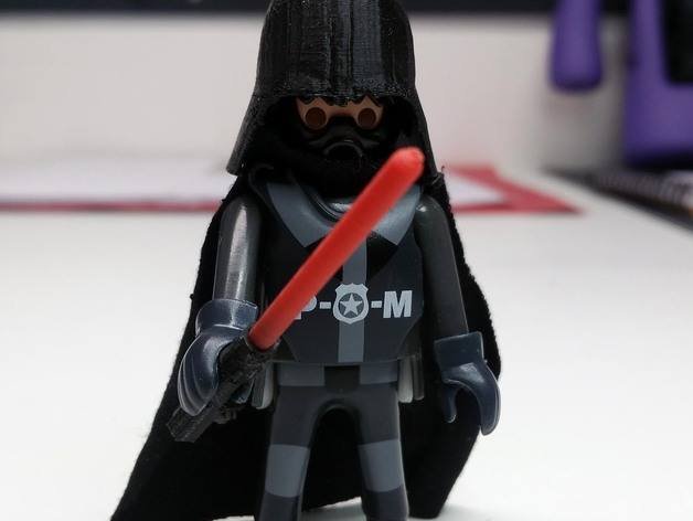 3d-modell playmobil darth vader 3d model