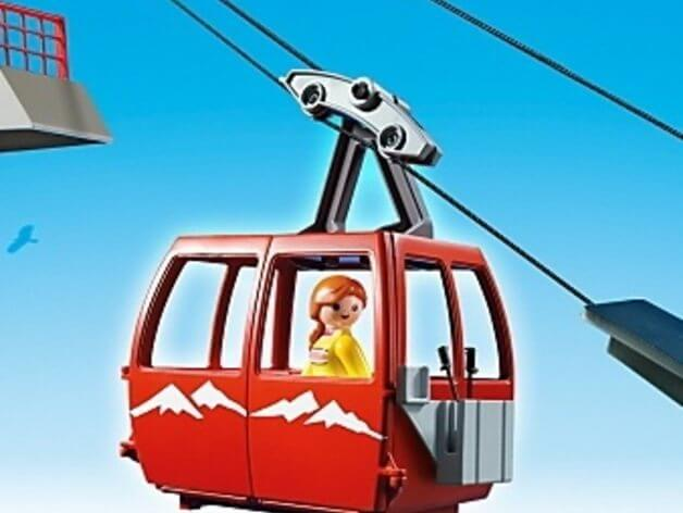 3d-modell playmobil ski lift cable car 3d model