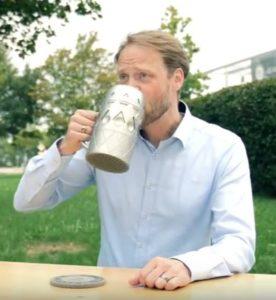 Matthew Beaumont 3d-gedruckter bierkrug 3d printed beer mug
