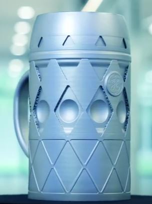 ge additive 3d-gedruckter bierkrug 3d printed beer mug