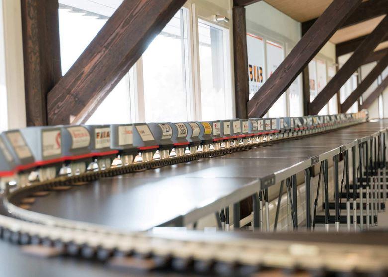 3d-gedruckter zug fablab guinness 3d printed train