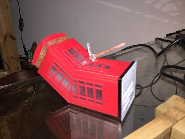 3d-modell banksy murdered phone booth 3d model
