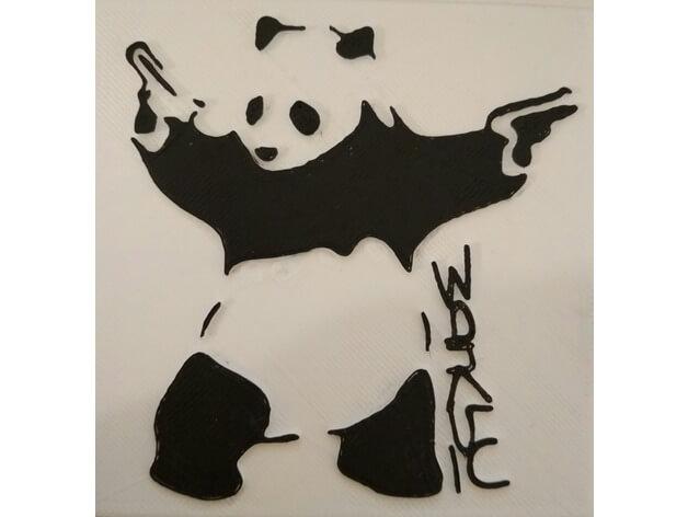 3d-modell banksy panda 3d model
