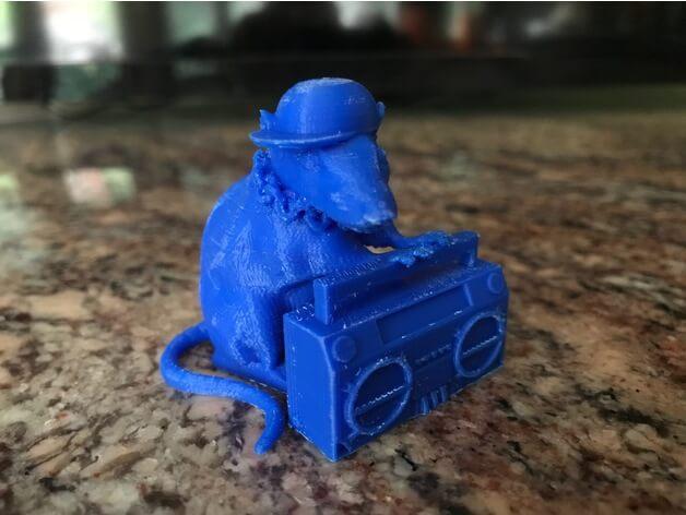 3d-modell banksy rat 3d model
