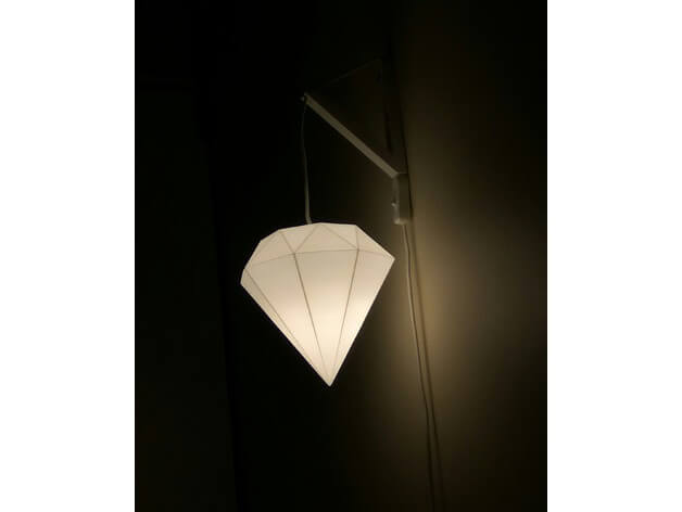 3d-modell diamant lampe 3d model diamond lampshade