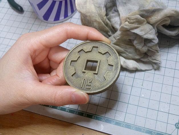 3d-modell maker coin sexy cyborg 3d model